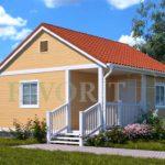 Каркасный дом 4х6 с террасой и верандой 1,5х3 – фото 1