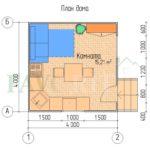 Планировка каркасного дома 4х4