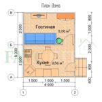 Планировка каркасного дома 4х5