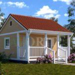 Каркасный дом 4х5 с террасой 1,5х5 – фото 1