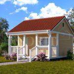 Каркасный дом 4х5 с террасой 1,5х5 – фото 2