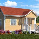 Каркасный дом 4х6 с террасой 1,5х2 – фото 2
