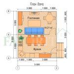 Планировка каркасного дома 5х6