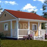 Каркасный дом 5х6 с террасой 1,5х6 – фото 1