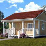 Каркасный дом 5х6 с террасой 1,5х6 – фото 2