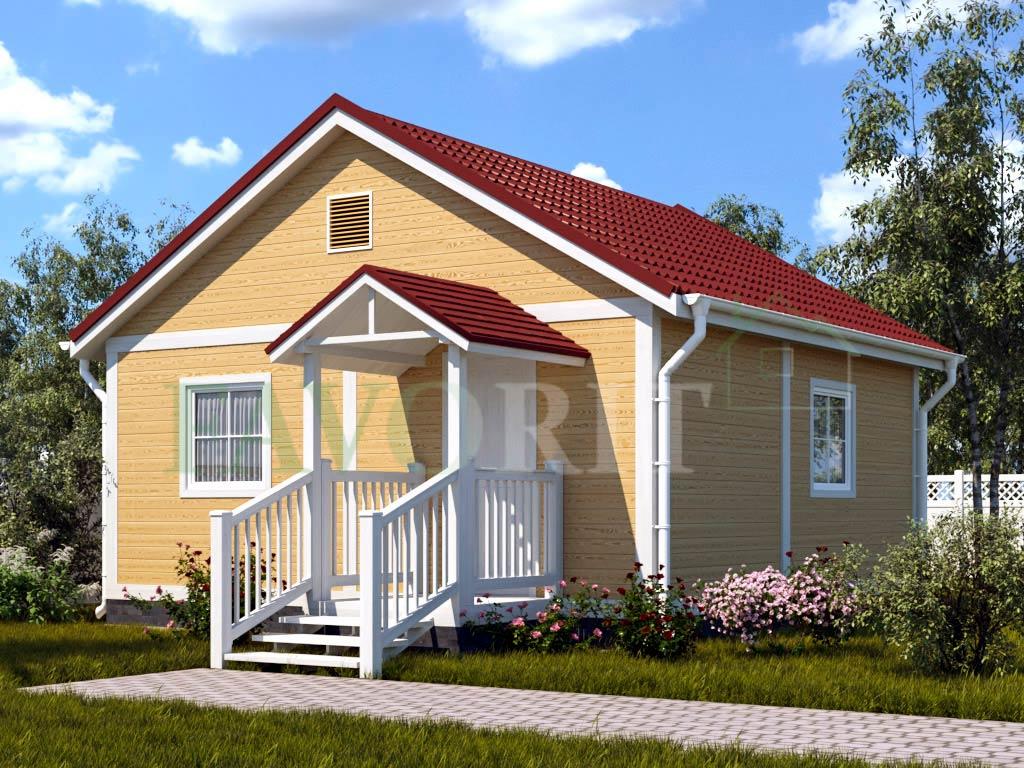 Каркасный дом 6х6 – фото 1