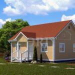 Каркасный дом 6х8 с террасой 1,5х2 – фото 2