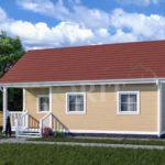 Каркасный дом 6х9 с террасой 2х3 – фото 1