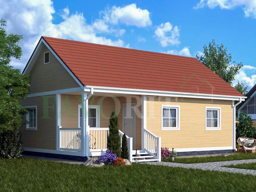 Каркасный дом 6х9 с террасой 2х3 – фото 2