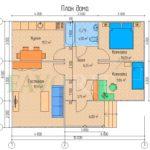 Планировка каркасного дома 8х10 с террасой 2х3