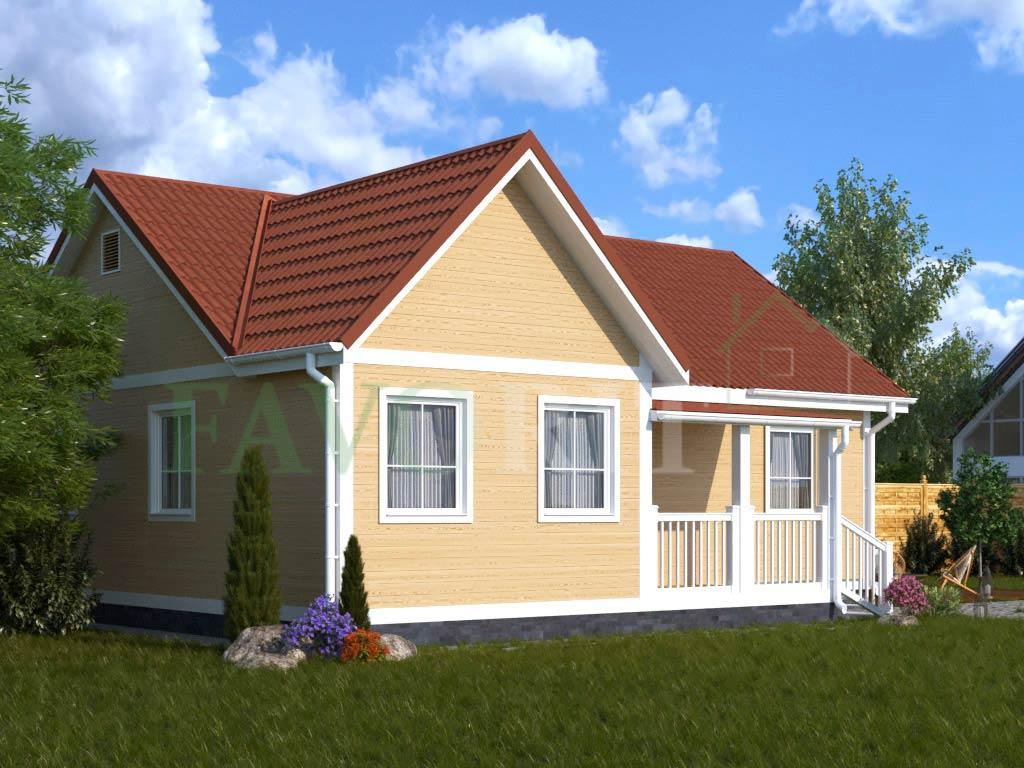 Каркасный дом 8х10 с террасой 2х3 – фото 2