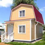 Каркасный дом 4х4 с верандой 1,5х4 – фото 1