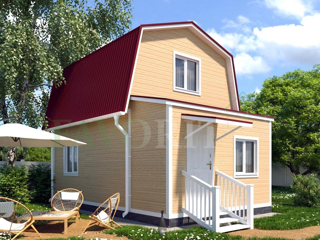 Каркасный дом 4х4 с верандой 1,5х4 – фото 2