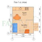 Планировка 1 этажа каркасного дома 4х5