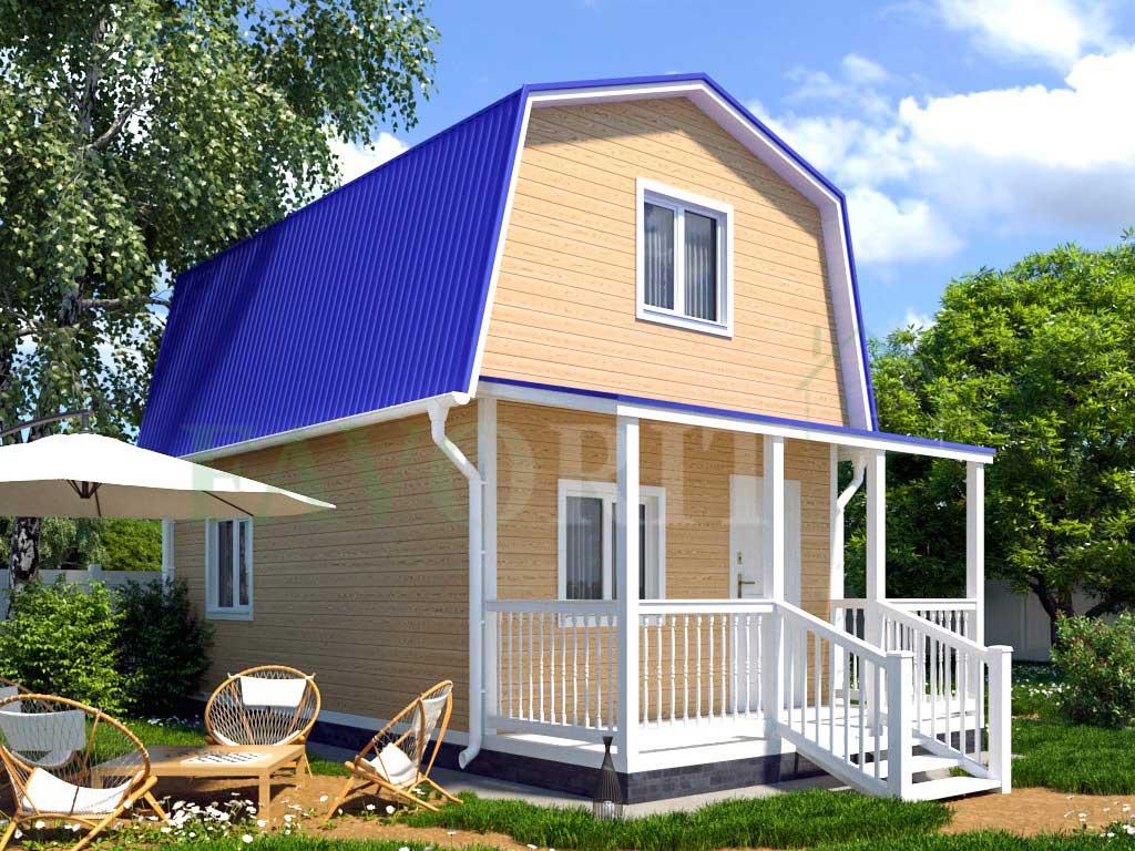 Каркасный дом 4х5 с террасой 1,5х4 – фото 2
