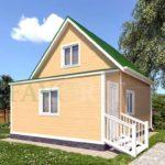 Каркасный дом 5х5 с верандой 1,5х5 – фото 1