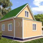 Каркасный дом 5х5 с верандой 1,5х5 – фото 2