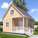 Каркасный дом 5х6 с террасой 1,5х2,5 – фото 2