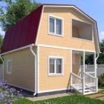 Каркасный дом 5х6 с террасой 1,5х2,5 и балконом 1,5х2 – фото 2