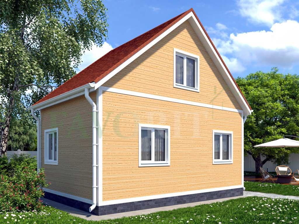 Каркасный дом 6х4 с террасой 1,5х1,5 – фото 2
