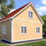 Каркасный дом 6х5 с террасой 1х2 – фото 2