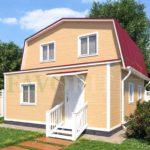 Каркасный дом 6х6 с верандой 1,5х6 – фото 1