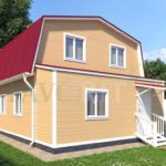 Каркасный дом 6х6 с верандой 1,5х6 – фото 2