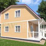 Каркасный дом 6х6 с террасой 1,5х6 – фото 1