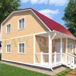 Каркасный дом 6х6 с террасой и верандой 1,5х3 – фото 1