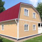Каркасный дом 6х6 с террасой и верандой 1,5х3 – фото 2