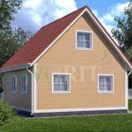 Каркасный дом 6х6 с террасой 1,5х1,5 – фото 1