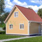 Каркасный дом 6х6 с террасой 1,5х1,5 – фото 2