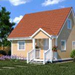 Каркасный дом 6х6 с террасой 1х2 – фото 1