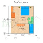 Планировка 2 этажа каркасного дома 7х6