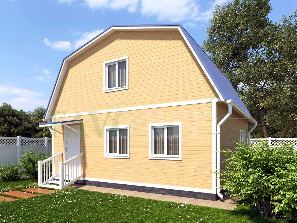 Каркасный дом 7х6 – фото 2