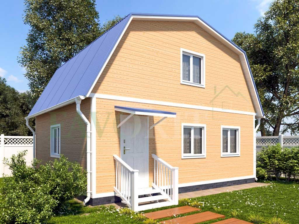 Каркасный дом 7х6 – фото 1