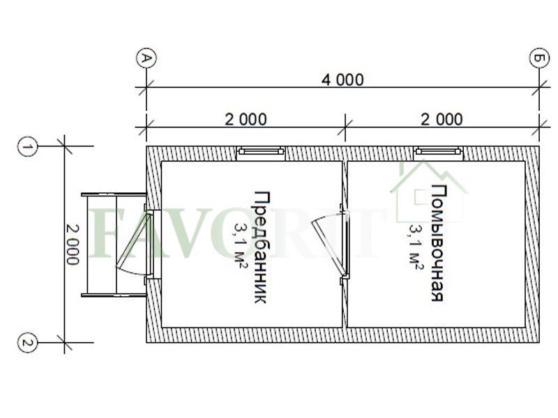 Баня 2х4 из бруса – план проекта