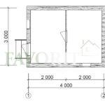 Баня из бруса 3х4 – план проекта
