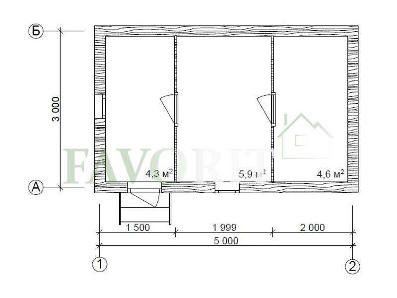 Баня из бруса 3х5 – план проекта