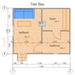 Планировка каркасной бани 4х5
