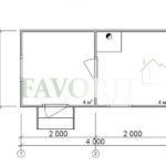 Каркасная баня 2×4 – планировка проекта
