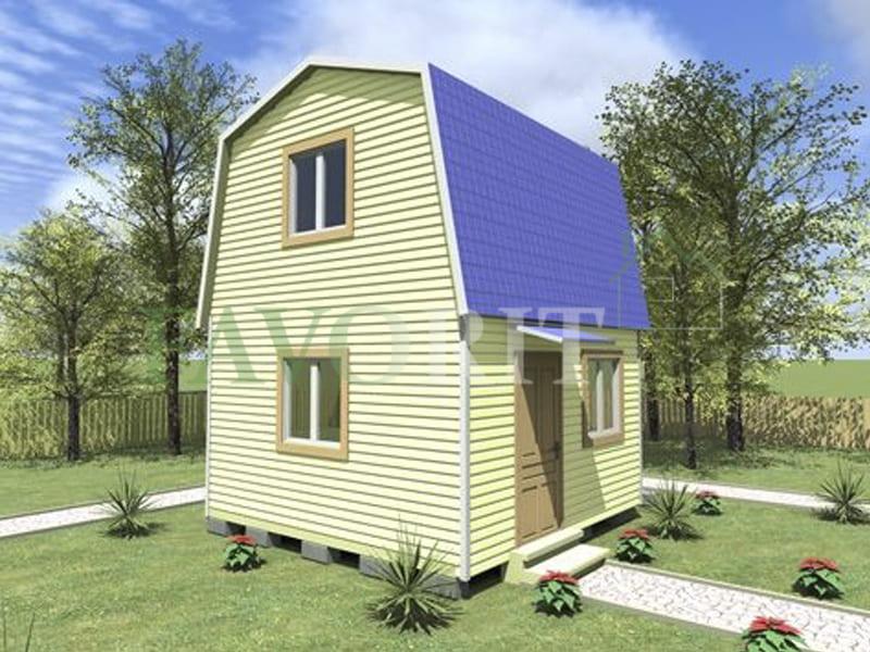 Двухэтажный каркасный дом 4х4 – фото