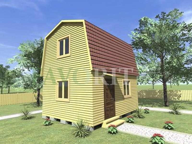 Двухэтажный каркасный дом 4х5 – фото