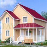 Каркасный дом 7х8 с террасой 3х5 – фото 1