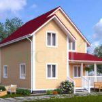 Каркасный дом 7х8 с террасой 3х5 – фото 2