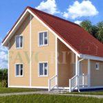 Каркасный дом 8х8 с террасой 2х2 – фото 1
