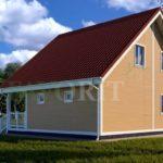 Каркасный дом 8х8 с террасой 2х2 – фото 2
