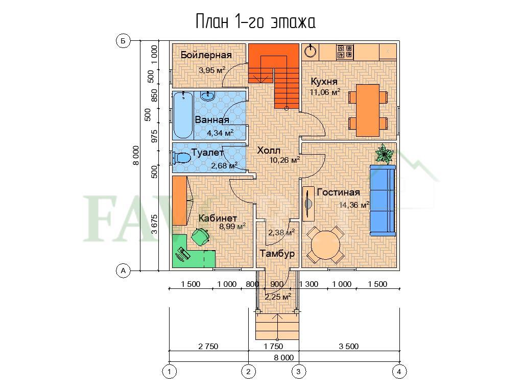 Karkasnyiy-kottedzh-8×8—-014-plan-1-e`tazha