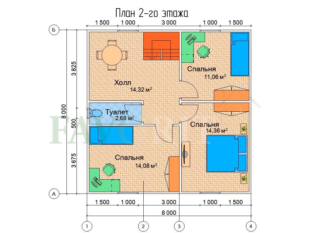 Karkasnyiy-kottedzh-8×8—-014-plan-2-e`tazha