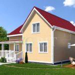 Каркасный дом 8х9 с террасой 6,5х5 – фото 2
